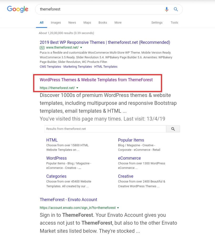 Themeforest main website