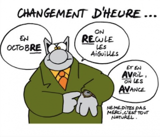Changement d'heure-Comenfrance-école de français pour étrangers-FLE-Bordeaux-french school for foreigners