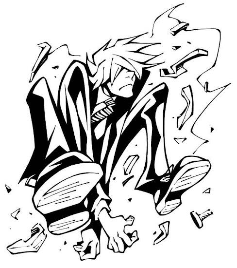 ハンナ・バーベラ・プロダクション制作のTVアニメの影響を受けて描いたキャラクターの試作画