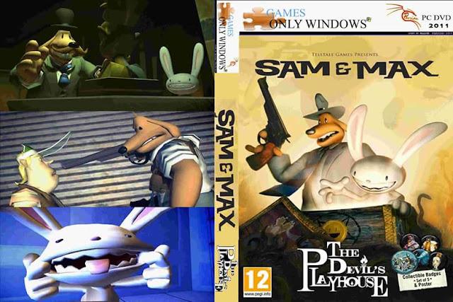 تنزيل لعبة المغامرات والمهمات المسلية بجزئها الثالث Sam & Max - The Devil's Playhouse  بحجم 1.54 جيجا فقط وبرابط واحد من ميديافاير