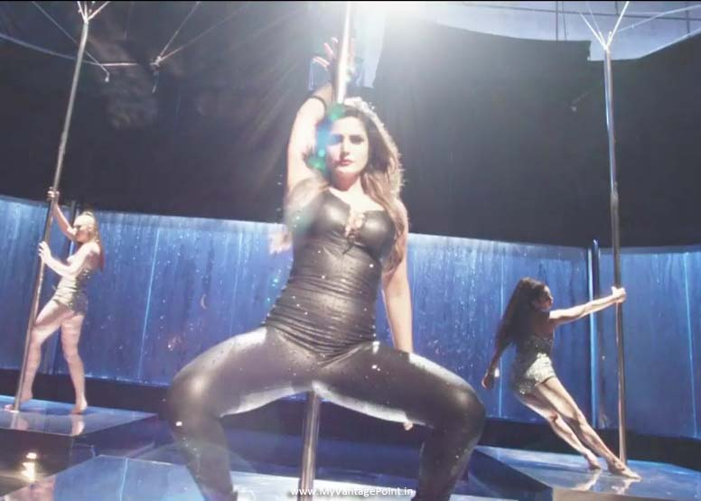 Zareen Khan in black dress, Zareen Khan maahi ve video song stills, Zareen Khan thunder thighs, Zareen Khan sexy legs, Zareen Khan hot legs, Zareen Khan in latex dress, Zareen Khan in tight dress