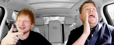 Ed Sheeran in Carpool Karaoke in Late Late Show with James Corden