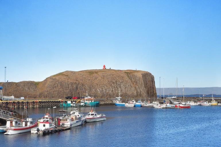 Súgandisey, île de basalte sur la péninsule de Snæfellsnes