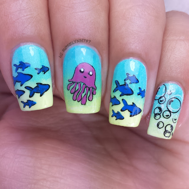 Challenge Your Nail Art: Sea Creatures