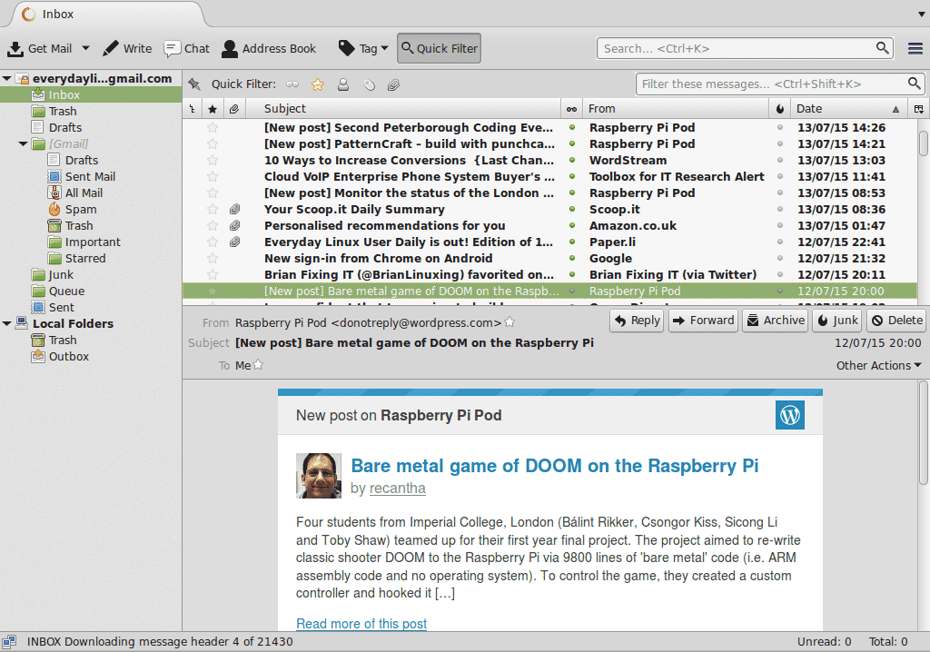New Linux Email Client