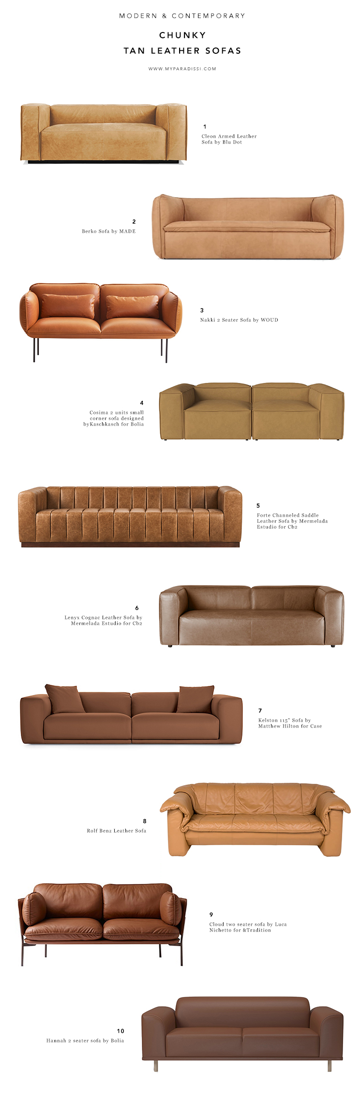 Tremendous 10 Best Chunky Tan Leather Sofas My Paradissi Lamtechconsult Wood Chair Design Ideas Lamtechconsultcom