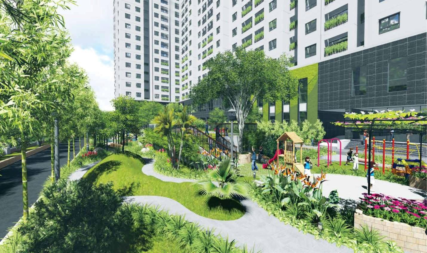 Khuôn viên cây xanh tại dự án Bel Air Từ Liêm