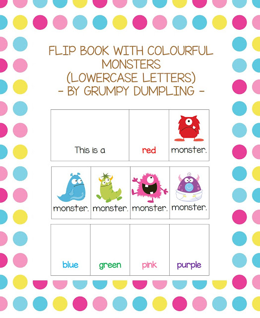 https://www.teacherspayteachers.com/Product/Flip-Book-with-Colourful-Monsters-lowercase-letters-1531726