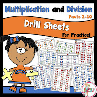 Multiplication and Division Drill Sheets to Practice Facts