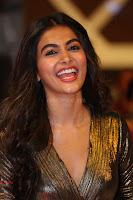 Pooja Hegde looks glamarous in deep neck sleevless short tight golden gown at Duvvada Jagannadham thank you meet function 150.JPG