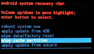 Description: Android Stock recovery mode