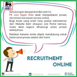 PT. Lion Super Indo, LLC, pemilik gerai supermarket Super Indo sedang membuka lowongan kerja untuk lulusan SMA/SMK hingga S1