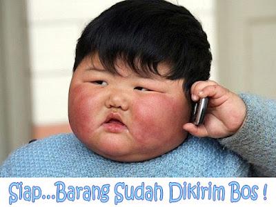 gambar anak kecil gemuk sedang telepon