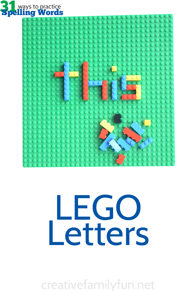 how to make letters out of legos