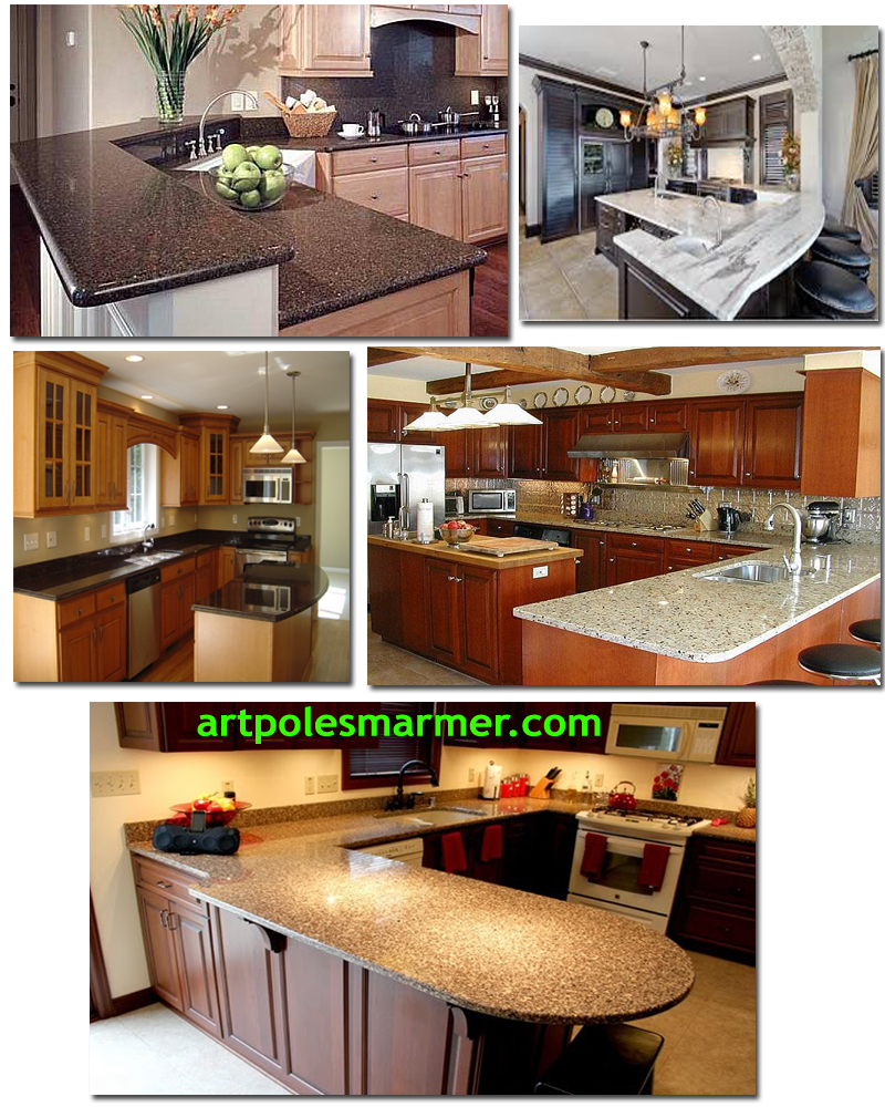 30 Desain Meja Dapur Dari Granit Shreenad Home