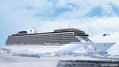 Artists Rendering of Crystal Cruises' New Ship Under Construction at Lloyd Werft