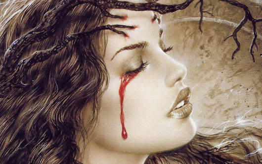 sad girl with blood tears in eyes hd wallpaper sad girl with blood