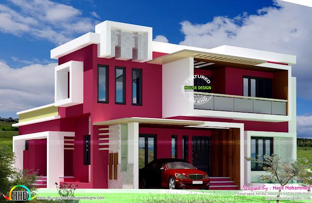 Box Type Contemporary Home - Kerala Design And Floor
