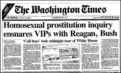 Caso Franklin-Redes de prostitución gay-Casa Blanca-presidente Bush-presidente Reagan