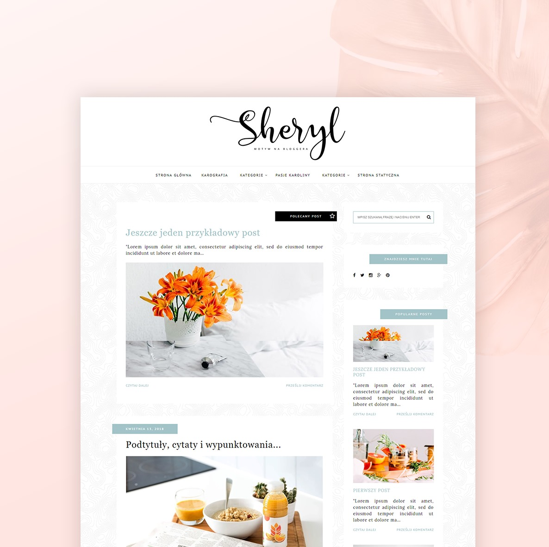 motyw na bloggera - SHERYL