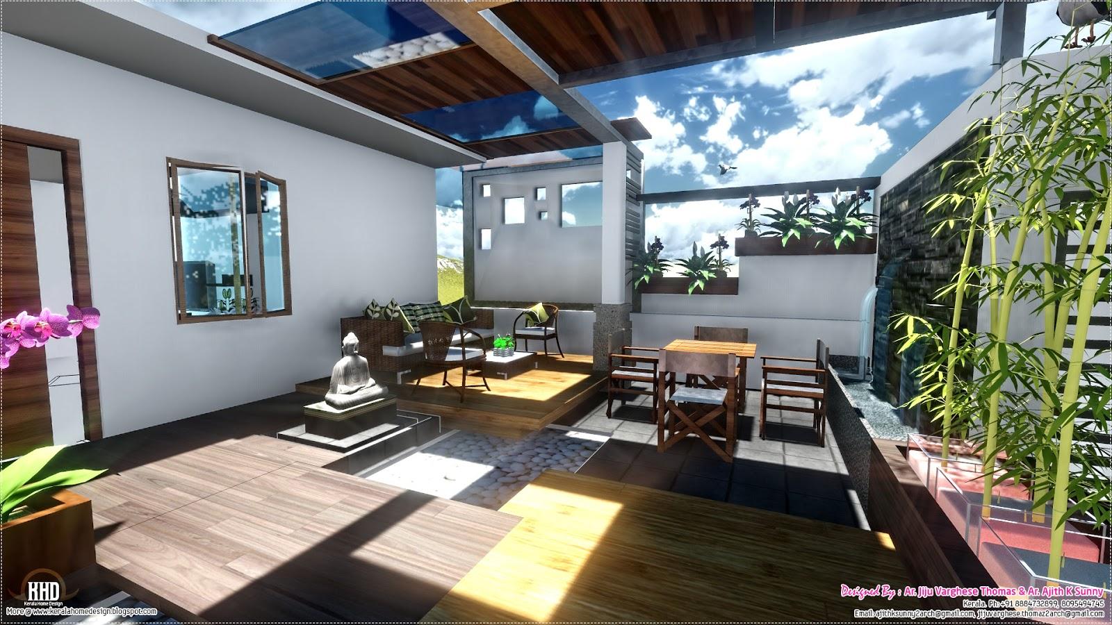 Contemporary Style Home Landscape Design In 800 Sq Feet