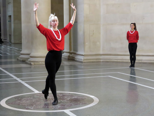 Dancers at the Sackler Octagon, Duveen galleries, Tate Britain, Millbank, London