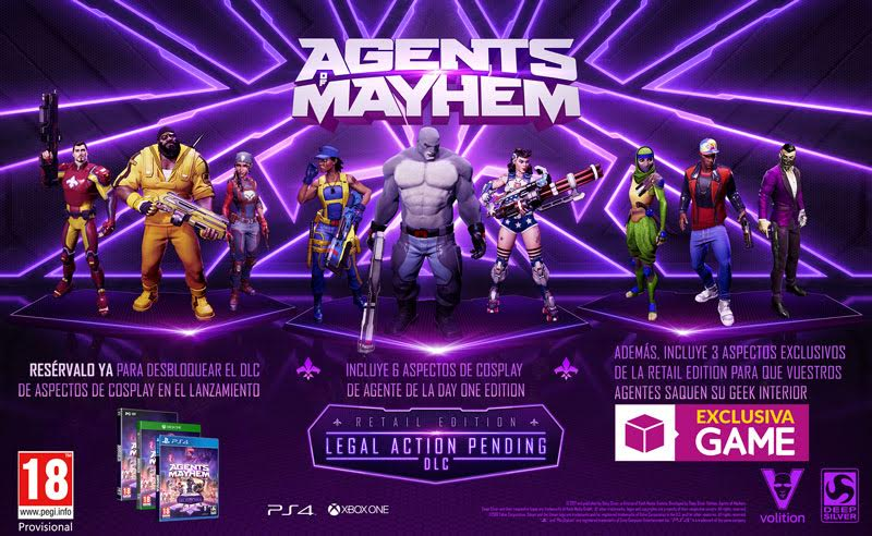 Consigue estos espectaculares aspectos para Agents of Mayhem al reservar en GAME