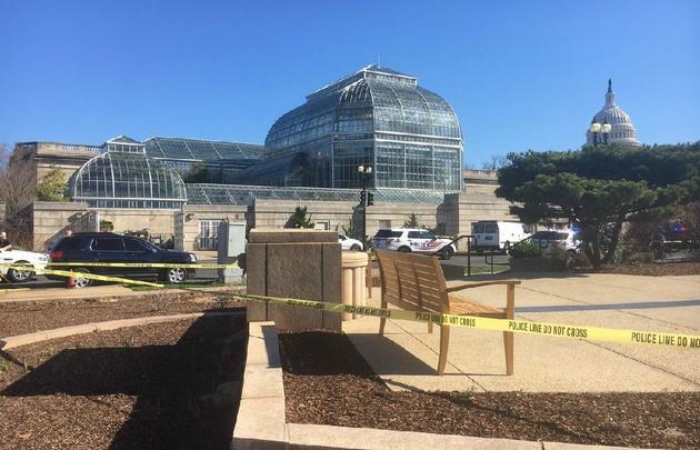 Un detenido tras tiroteo en las afueras del Capitolio