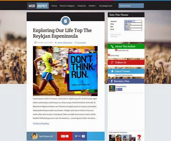 The WebDepot Blogger Template