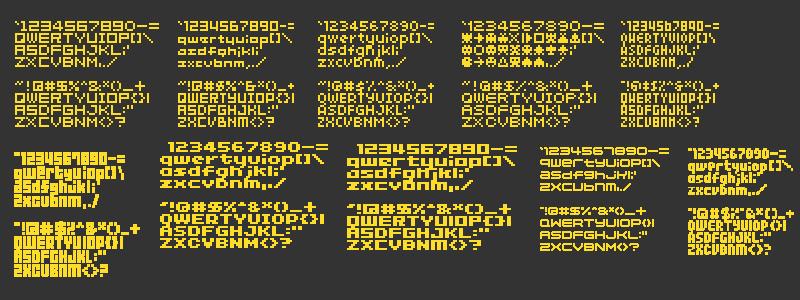 bitmap pixel font