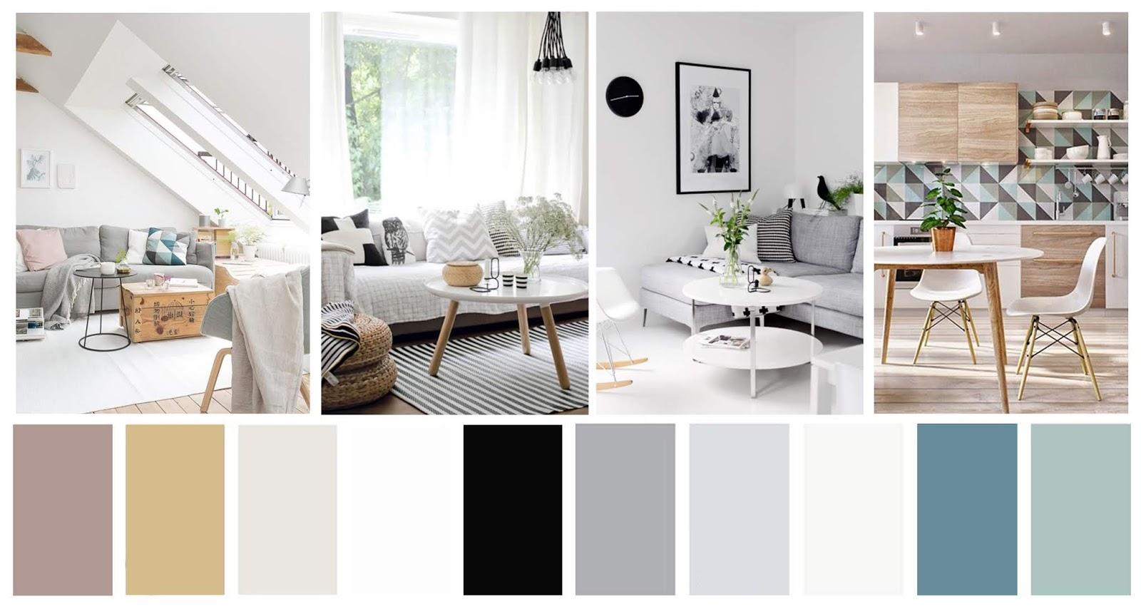 decoración de estilo nórdico paleta de color