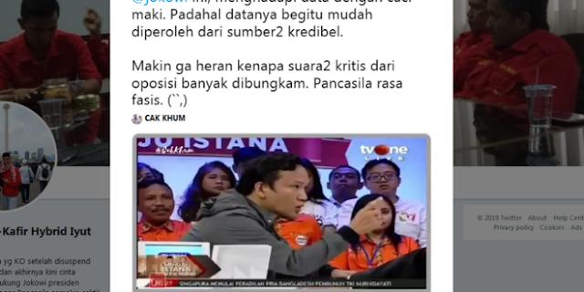 RIBUT Relawan Jokowi Bantah Data Riil, Warganet: Data Sumber Kredibel Kok Dicaci Maki?