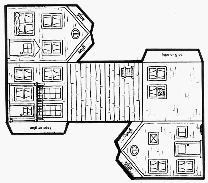 Le journal de chrys mon projet maison en maternelle - Patron de maison en papier a imprimer ...