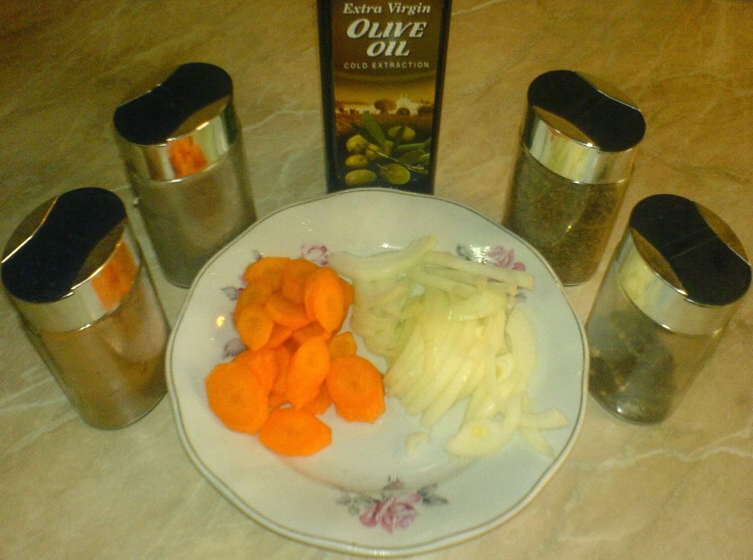 legume si condimente pentru peste la cuptor, retete culinare,