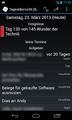 Screenshot von TKWeek 1.6.1