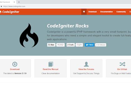 Cara Install CodeIgniter Untuk Pemula