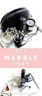 blog props & photography styling tips DIY marble tray