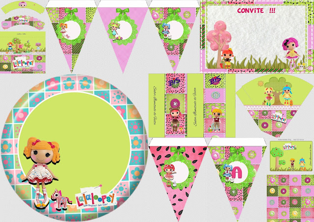 Lalaloopsy in Green: Free Printable Kit.