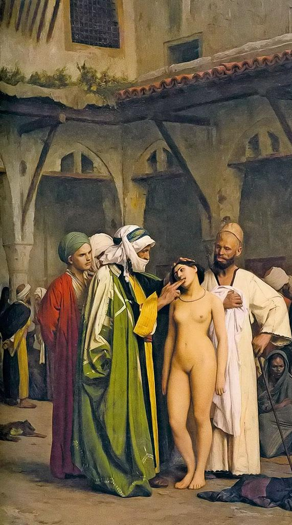 The slave market, circa 1866, Jean-Léon Gérôme (11 May 1824 – 10 January 1904)