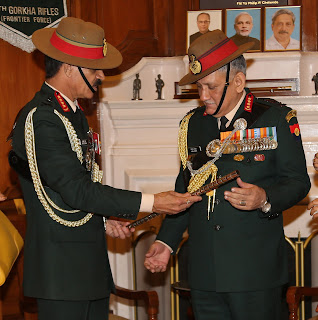 General Bipin Rawat taking charge of indian army chief from superannuating chief General Dalbir Singh Suhag