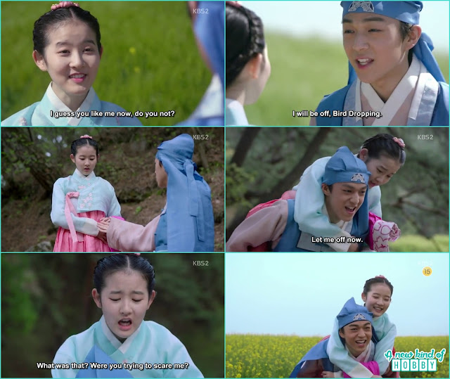 prince yeok give piggy back ride to chae kyung and propose her - Seven Day Queen: Episode 3 korean Drama