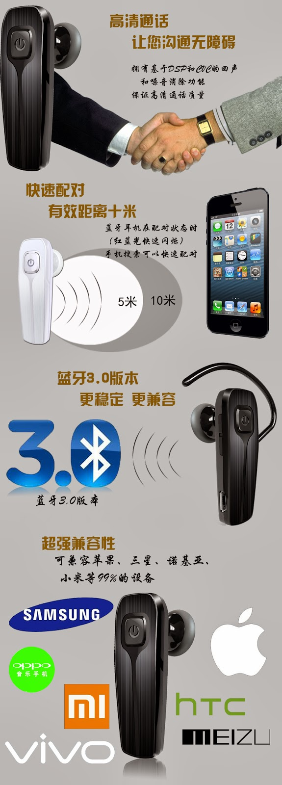 Tai nghe bluetooth Bluesong H16S