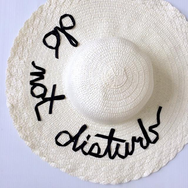 DIY Do Not Disturb Floppy Hat 9