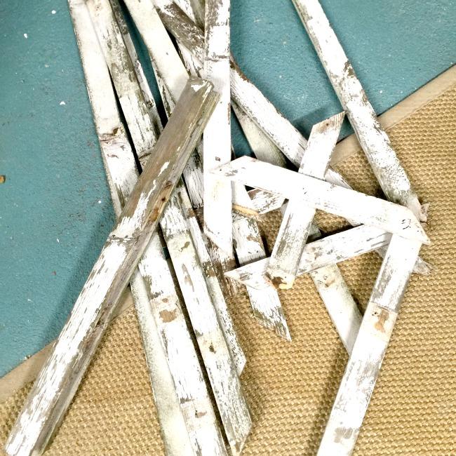 Trellis pieces on the floor