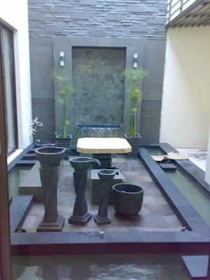 jasa pembuatan Kolam ikan minimalis dalam rumah