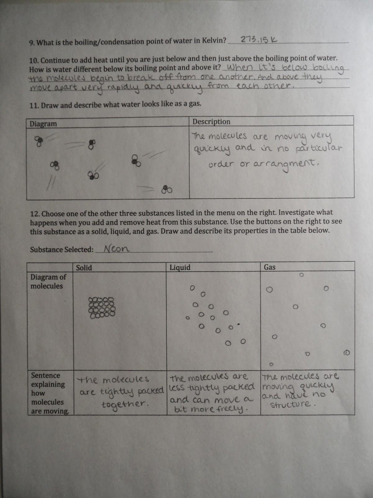 Visualizing Chemistry 105 Activity 6 States Of Matter