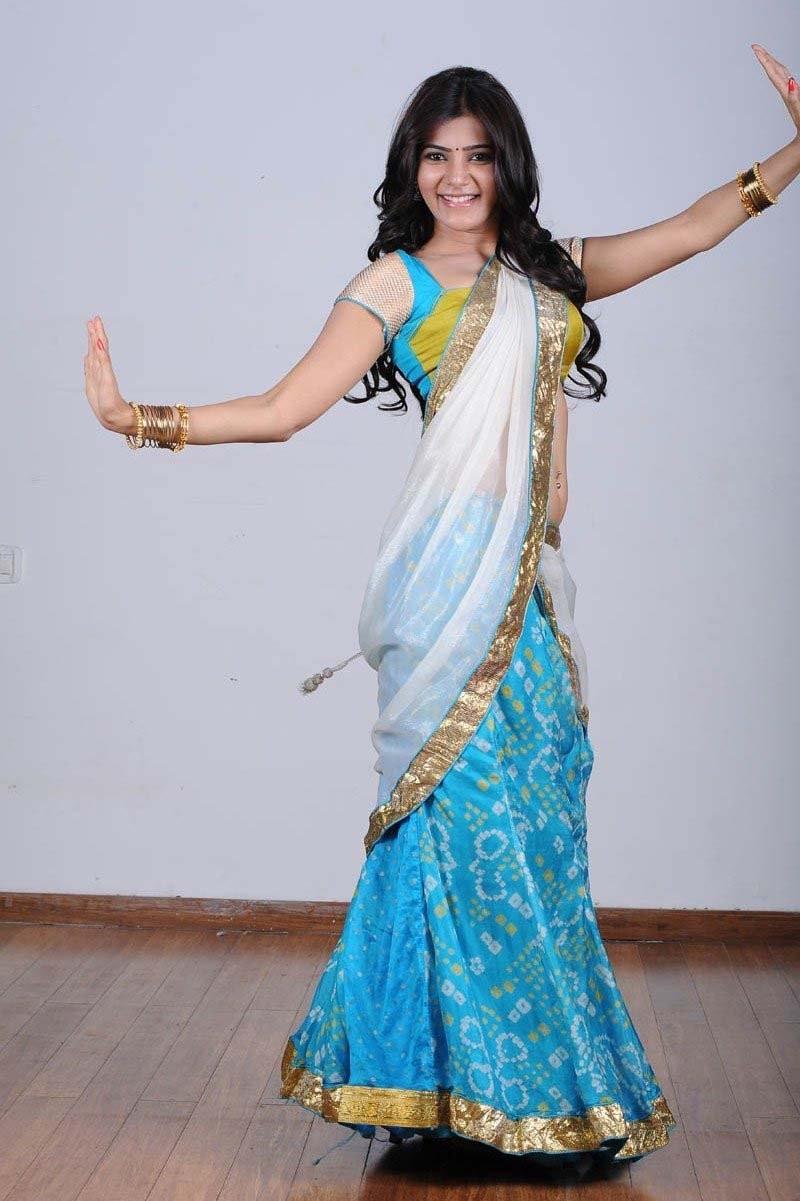 samantha in half saree latest photos in jabardasth movie