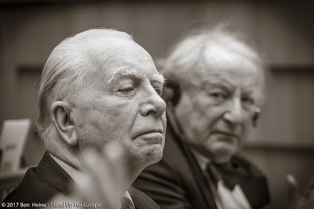 Mark Eyskens and Paul Goldschmidt - Stand Up For Europe - European Parliament - Portrait by Ben Heine