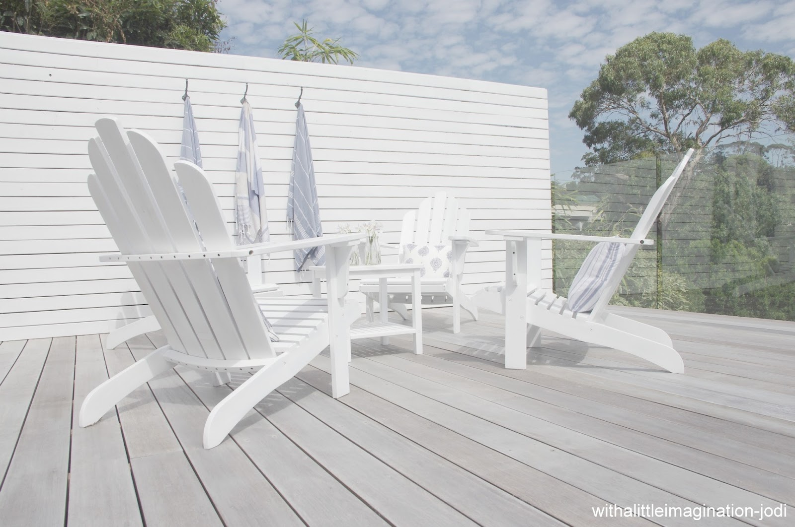White Wood Decking Pictures