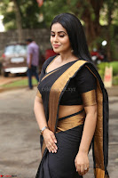 Poorna in Cute Backless Choli Saree Stunning Beauty at Avantika Movie platinum Disc Function ~  Exclusive 093.JPG